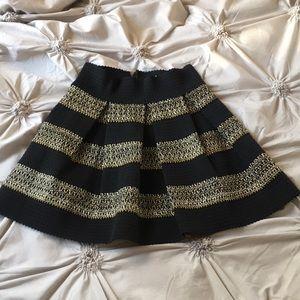 Black and Gold High Waisted Skirt! Size MEDIUM!
